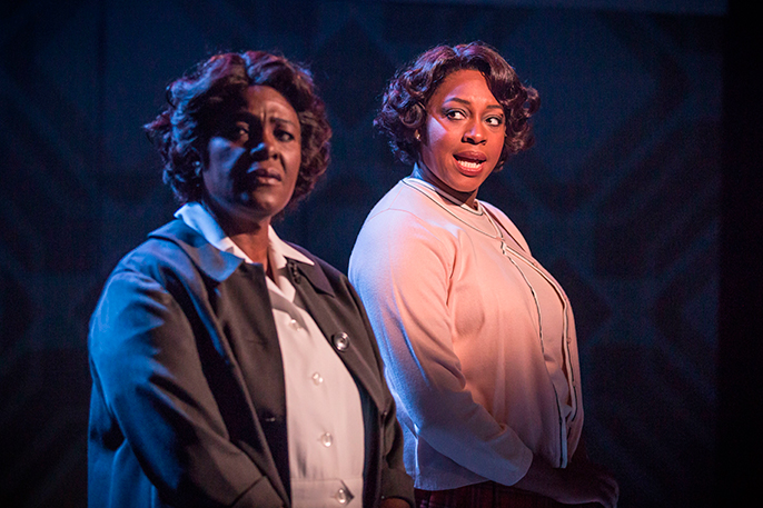 Sharon D Clarke left Nicola Hughes right in Chichester Festival Theatres production of CAROLINE OR CHANGE Photo Marc Brenner