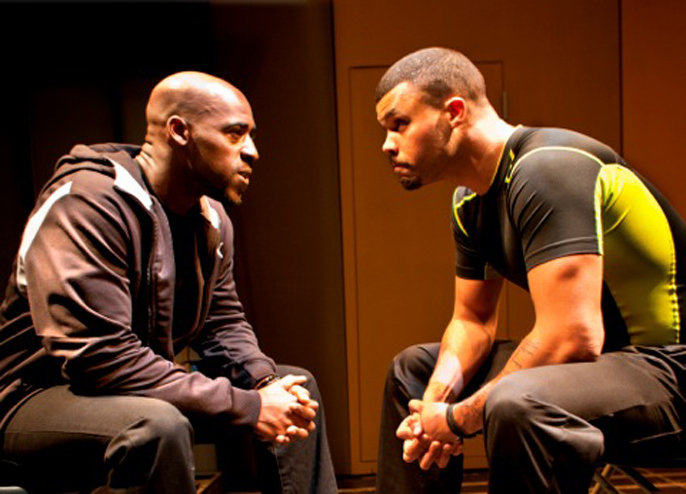 Blackta by Nathaniel Martello-White, Young Vic Daniel Francis (Black) and Howard Charles (Yellow)