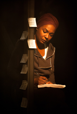 Nadine Marshall (Elayne) in nut by debbie tucker green © Stephen Cummiskey