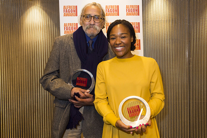 Mustapha Matura is the first recipient of the Outstanding Contribution to Writing Award and Charlene James won the Best New Play of the Year Award © Richard H. Smith