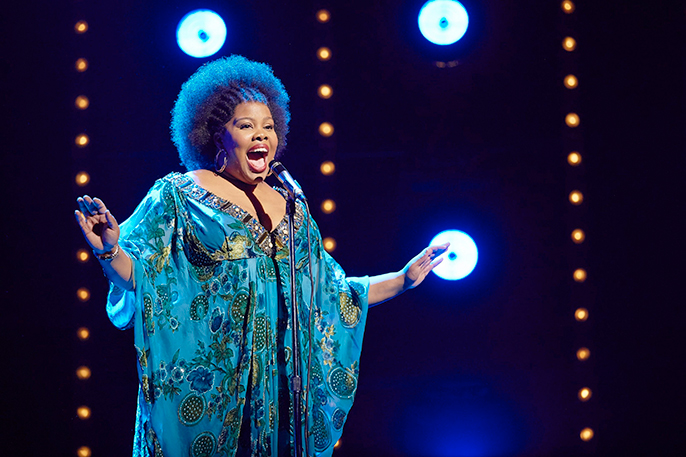 Amber Riley in Dreamgirls at the Savoy Theatre. Credit Brinkhoff-Mögenburg