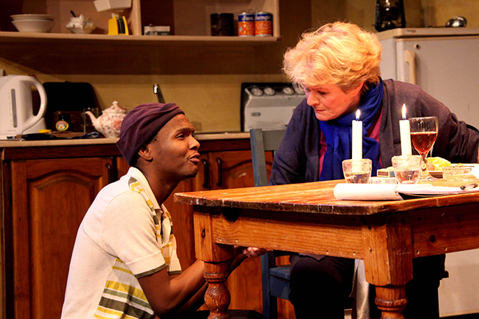 Janet Suzman and Khayalethu Anthony in Solomon and Marion, by Ruphin Coudyzer