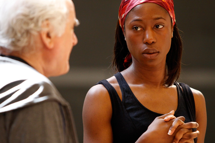 Nikki Amaka-Bird with Richard Eyre the director of Welcome to Thebes II © nc-reh