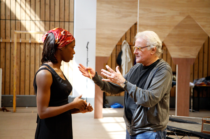 Nikki Amaka-Bird with Richard Eyre the director of Welcome to Thebes © nc-reh