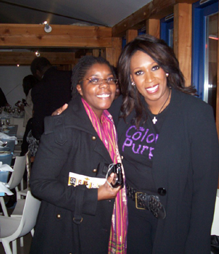 Angie Le Mar et Moi at Sista Talk Dinner 21 Nov 2008