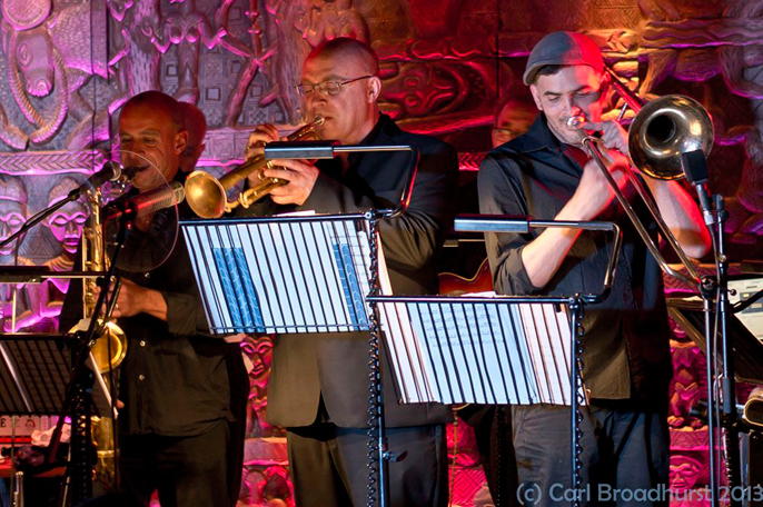 Members Soul Caribbean Big Band (c) Carl Broadcast ~ CTS Productions