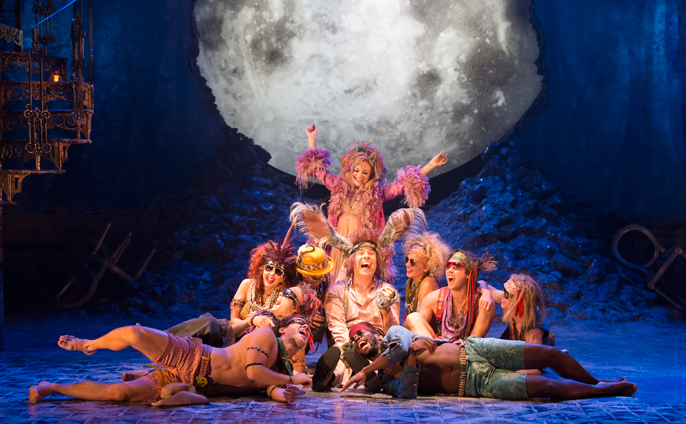 Sheridan Smith (Titania), David Walliams (Bottom) and the company of fairies by Johan Persson