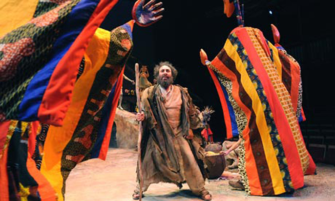 Antony Sher as Prospero in The Tempest at Stratford. Photograph: Tristram Kenton
