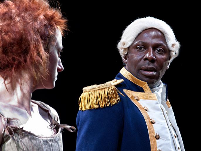 Jodie McNee – Liz Morden, Cyril Nri – Captain Arthur Phillip, Our Country's Good  © Simon Annand