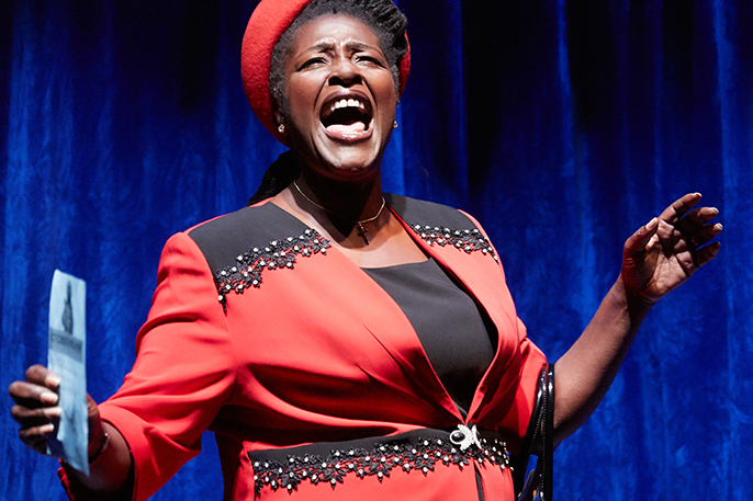 Sharon D. Clarke (Lady Toof). Photo by Mark Douet