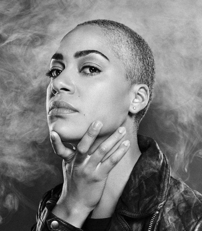 Hamlet, Young Vic with Cush Jumbo - Credit: Cush Jumbo. Photo by Dean Chalkley. Concept by Émilie Chen.