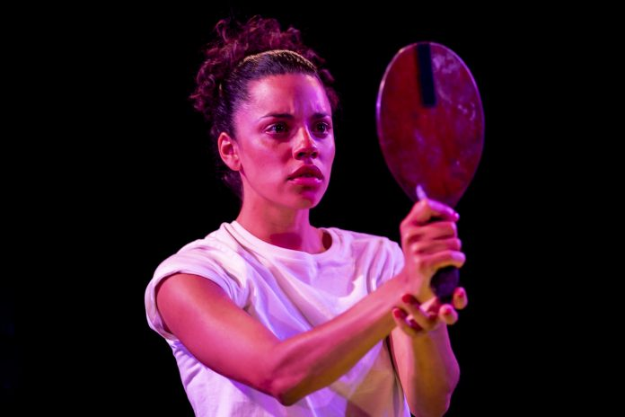 Anoushka Lucas as Opal in 'Chiaroscuro' at Bush Theatre. Photo credit: Johan Persson