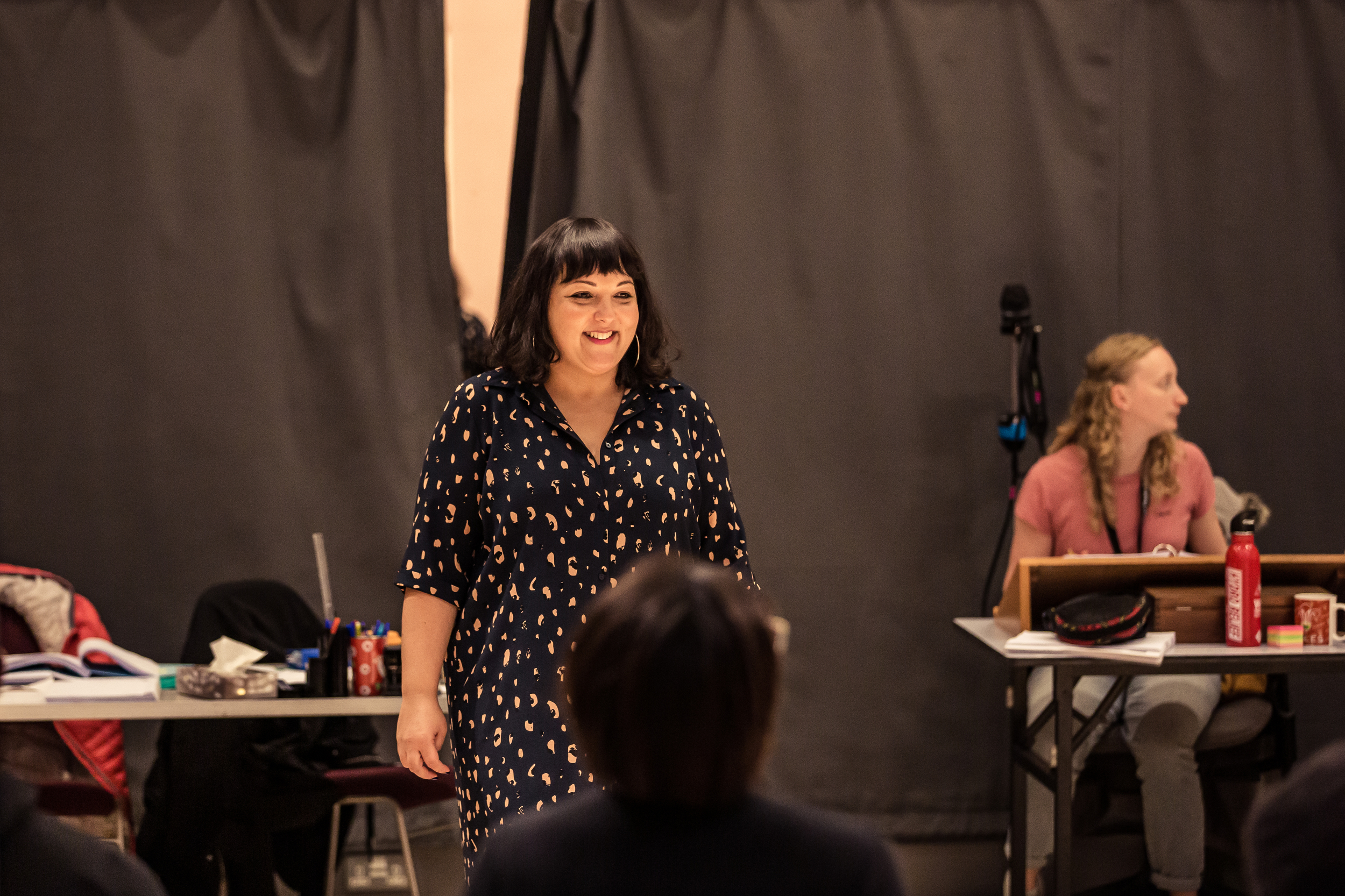 Nadia Fall in rehearsals for Three Sisters. Photo by The Other Richard.