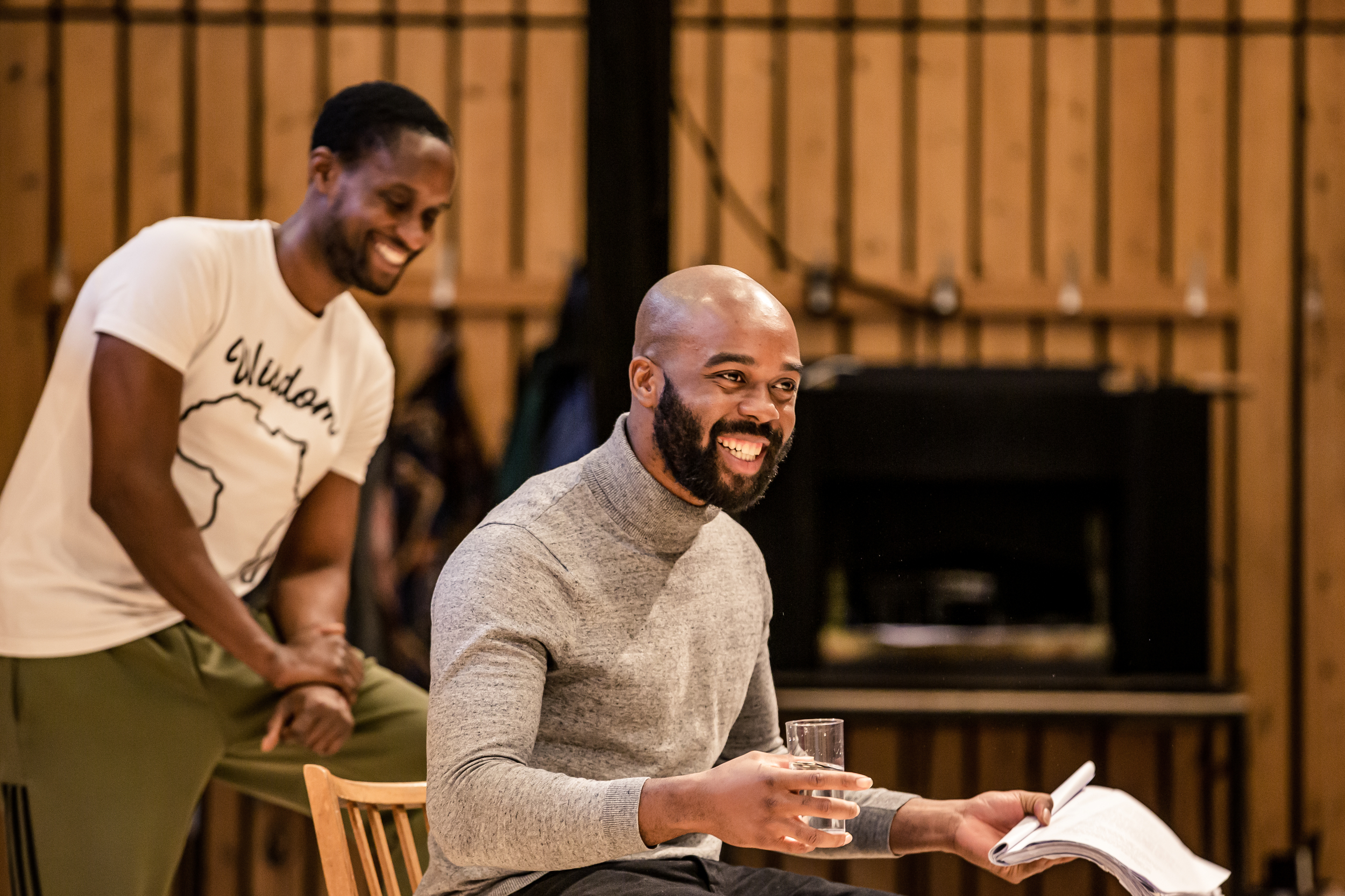 Peter Bankole (Nmeri Ora) and Ken Nwosu (Ikemba) in Three Sisters. Photo by The Other Richard.