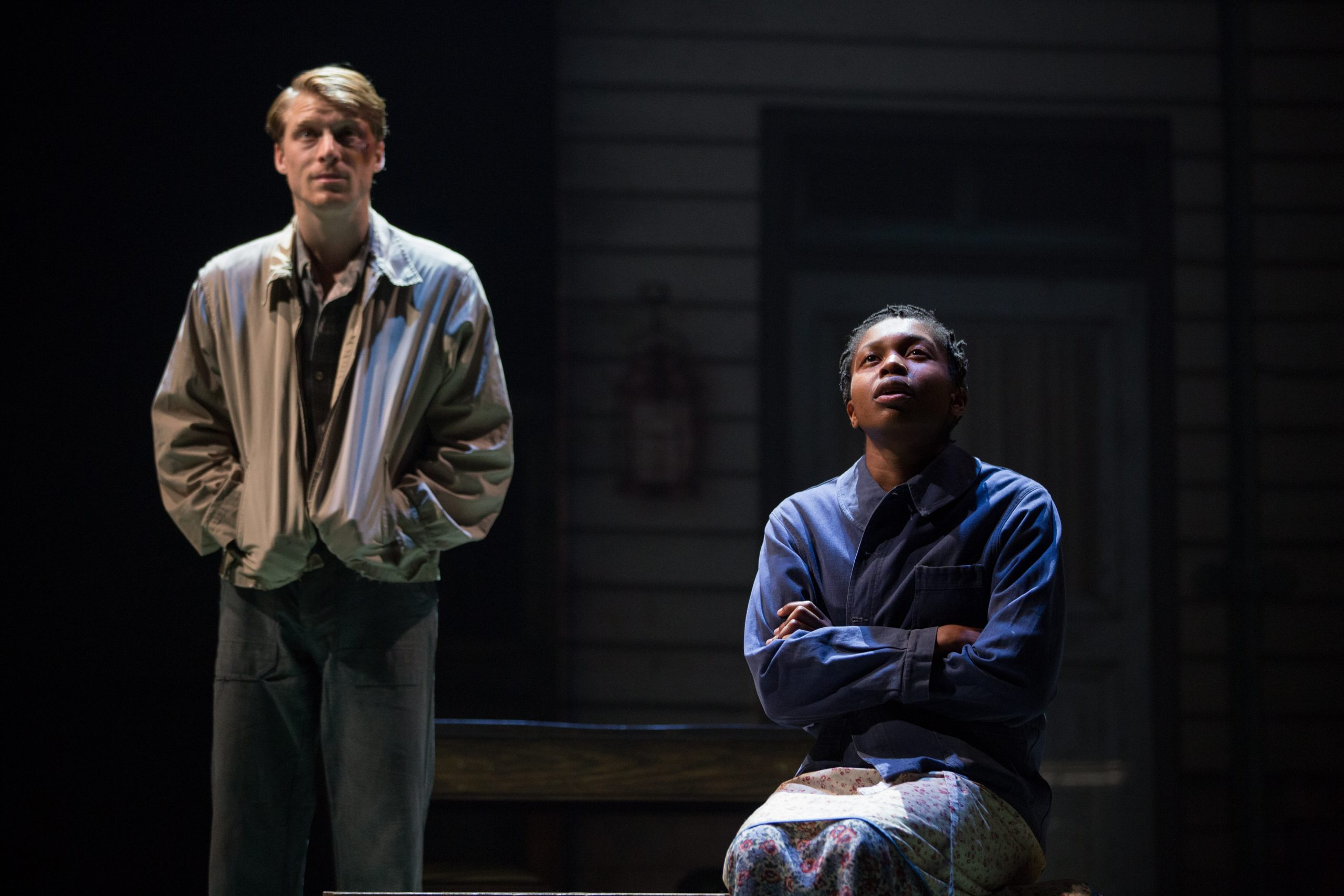 L-R, Colin Bates (Gene Laine) and Gloria Obianyo (Marianne) - Girl from the North Country - Photo by Cylla von Tiedemann