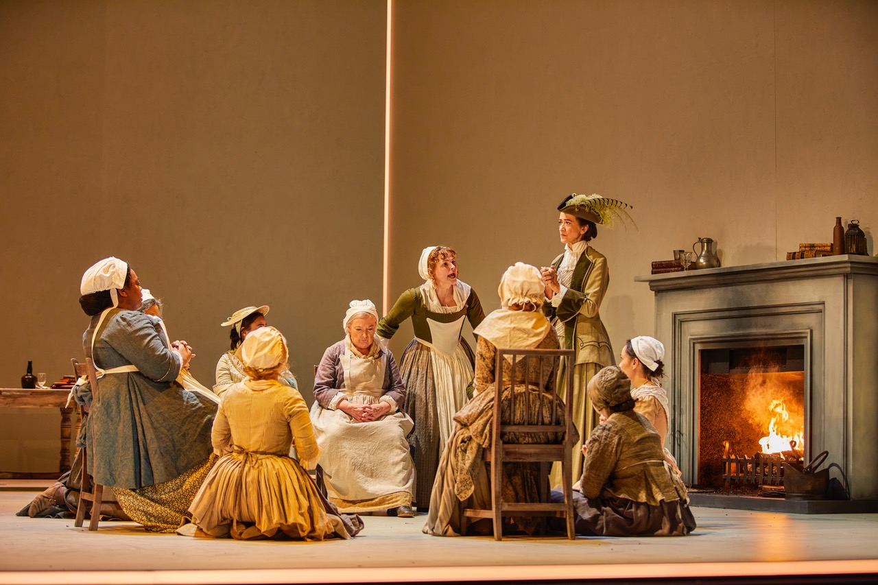 Cast of The Welkin at the National Theatre until 23rd May. Photo by Brinkhoff Moegenburg
