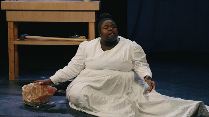 Selina Thompson in salt dispersed premiered with Battersea Arts Centre 2021 (c) Selina Thompson Company