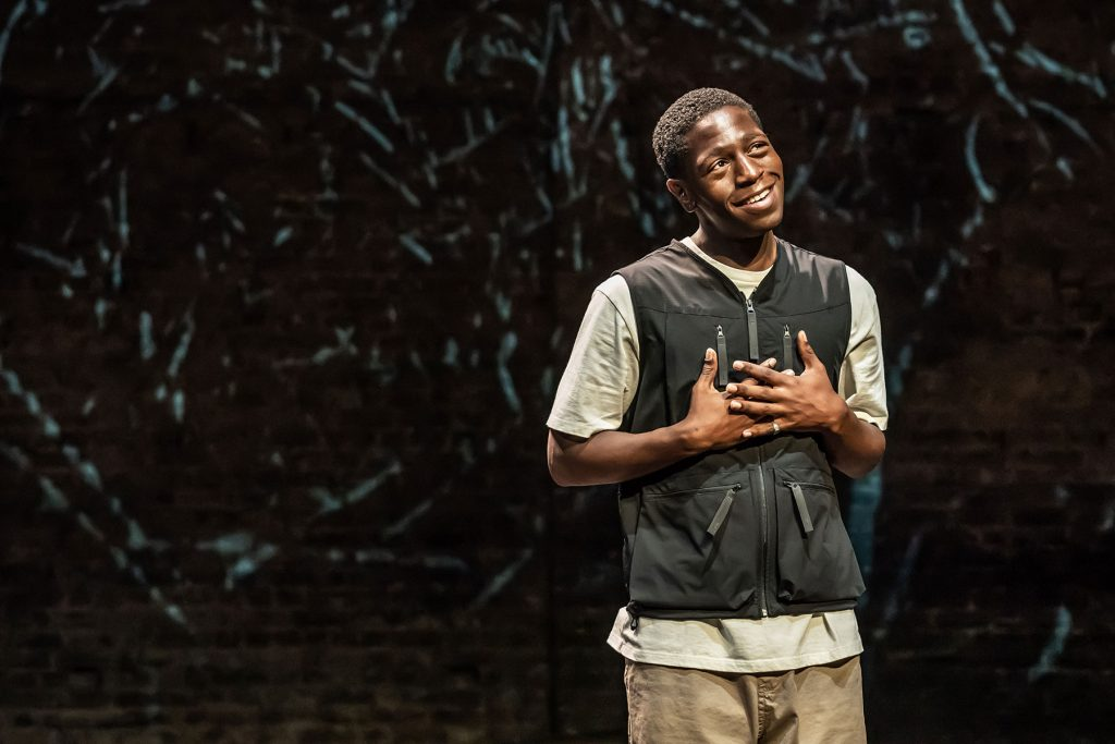 and breathe... at the Almeida Theatre. David Jonsson and Femi Temowo (musician). photo credit - Marc Brenner
