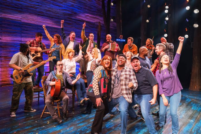 The West End company in Come From Away at the Phoenix Theatre 2020 Credit Craig Sugden