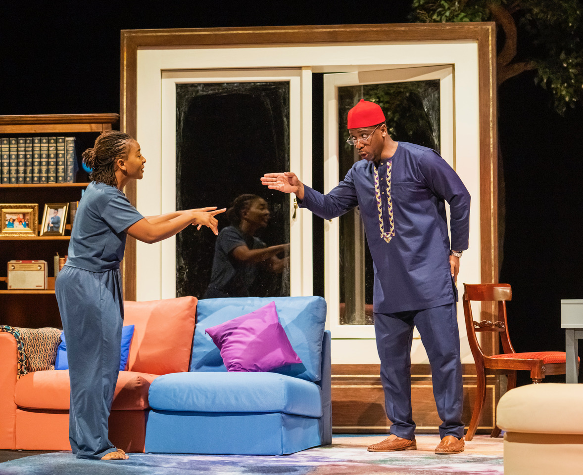 Uche Abuah and Itoya Osagiede in Notes on Grief, MIF 21. Tristram Kenton