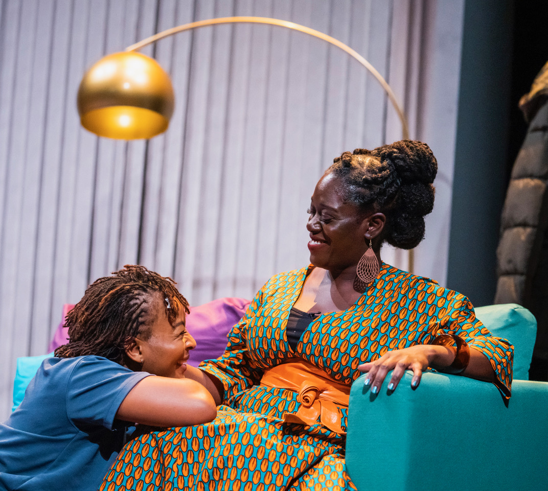 Uche Abuah and Michelle Asante in Notes on Grief, MIF 21. Tristram Kenton