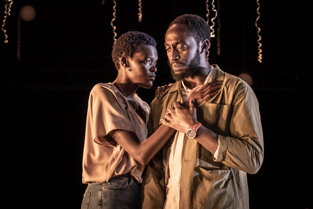 Sheila Atim and Ivanno Jeremiah in CONSTELLATIONS. Directed by Michael Longhurst. Photo by Marc Brenner