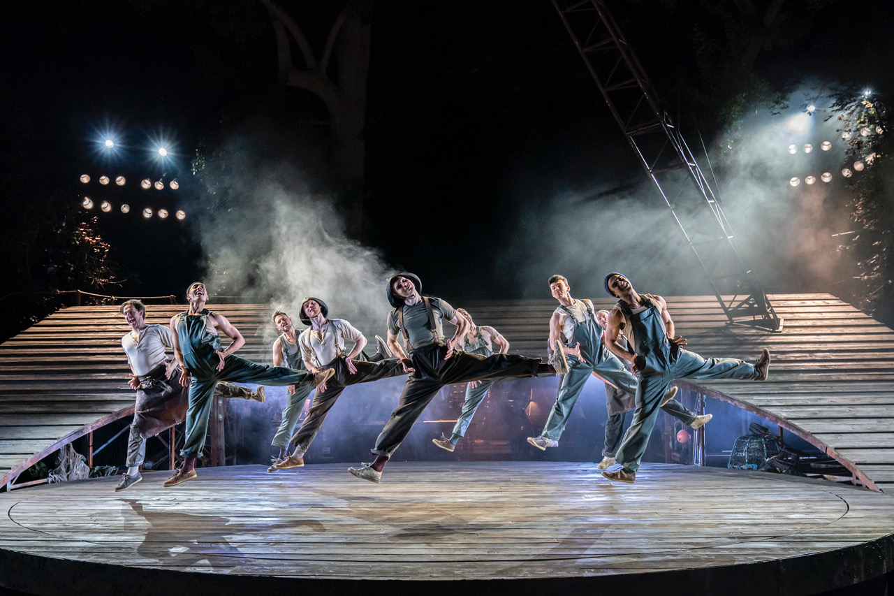 Blow High, Blow Low. The Company of Carousel at Regent's Park Open Air Theatre. Photo by Johan Persson