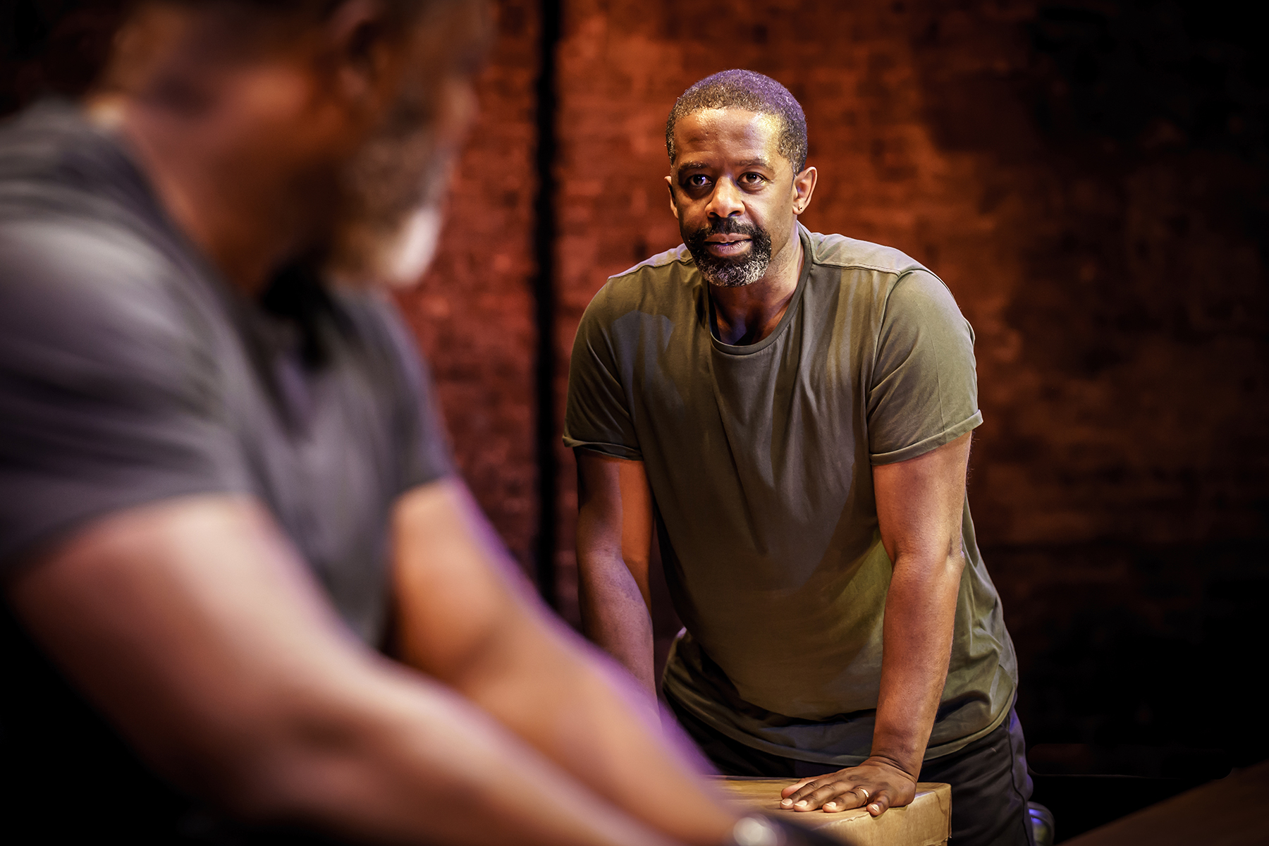 Hymn at the Almeida Danny Sapani and Adrian Lester. Photo credit Marc Brenner