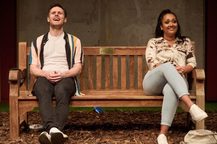 Tim Bowie and Tori Allen-Martin in Park Bench at the Park Theatre By Tori Allen-Martin Photo by Mark Douet