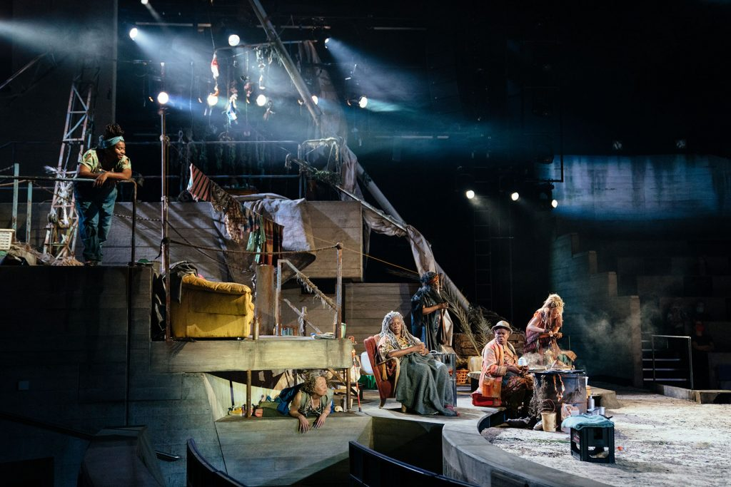 A scene from Paradise at the National Theatre. Photo by Helen Murray