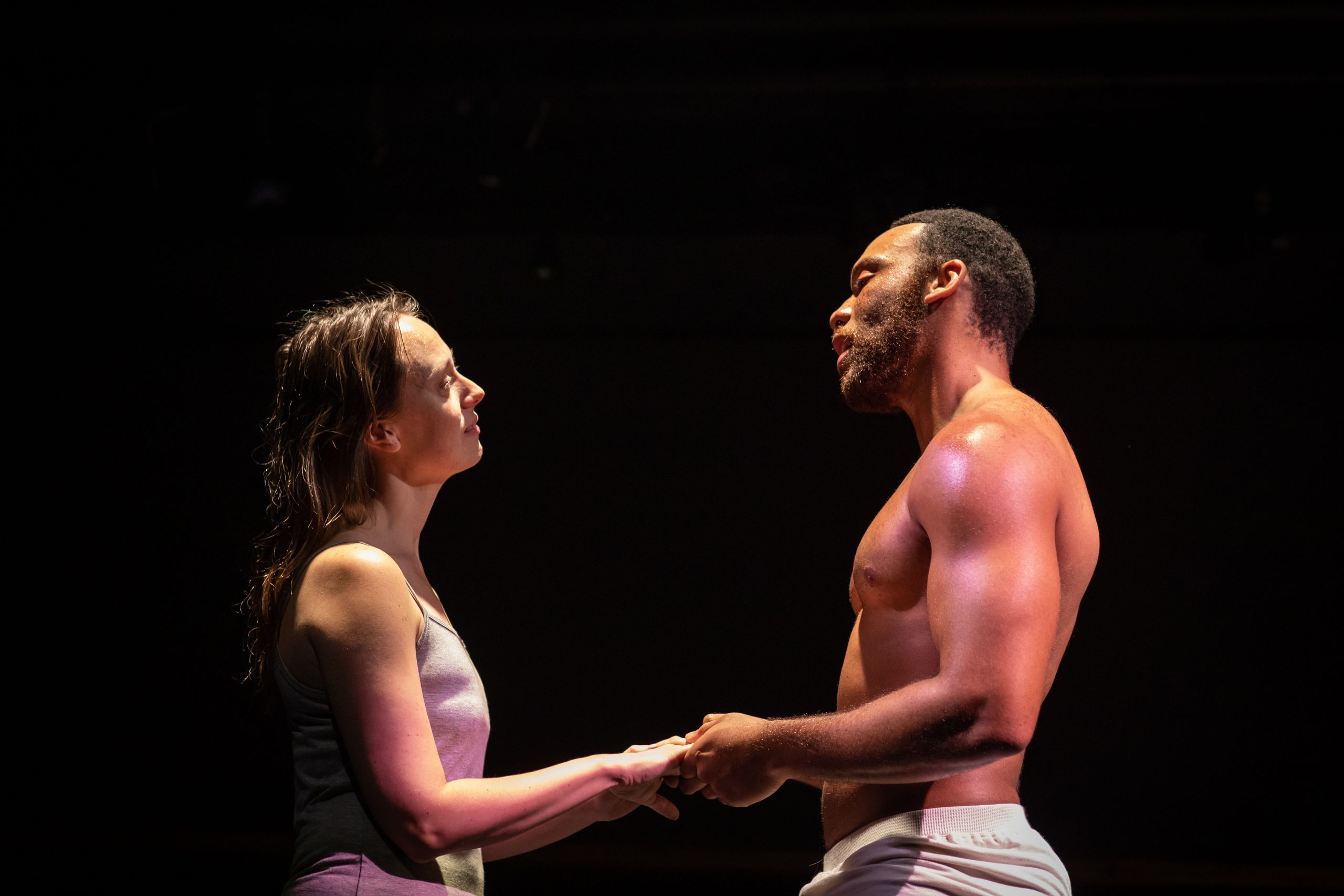 Shaq Taylor and Scarlett Brookes in STATEMENTS AFTER AN ARREST..., photo by Helen Maybanks