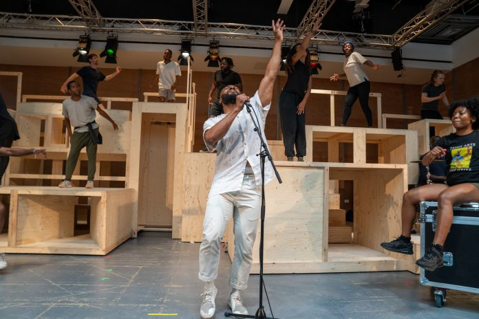 Arinzé Kene in rehearsal for Get Up Stand Up! The Bob Marley Musical Credit Craig Sugden