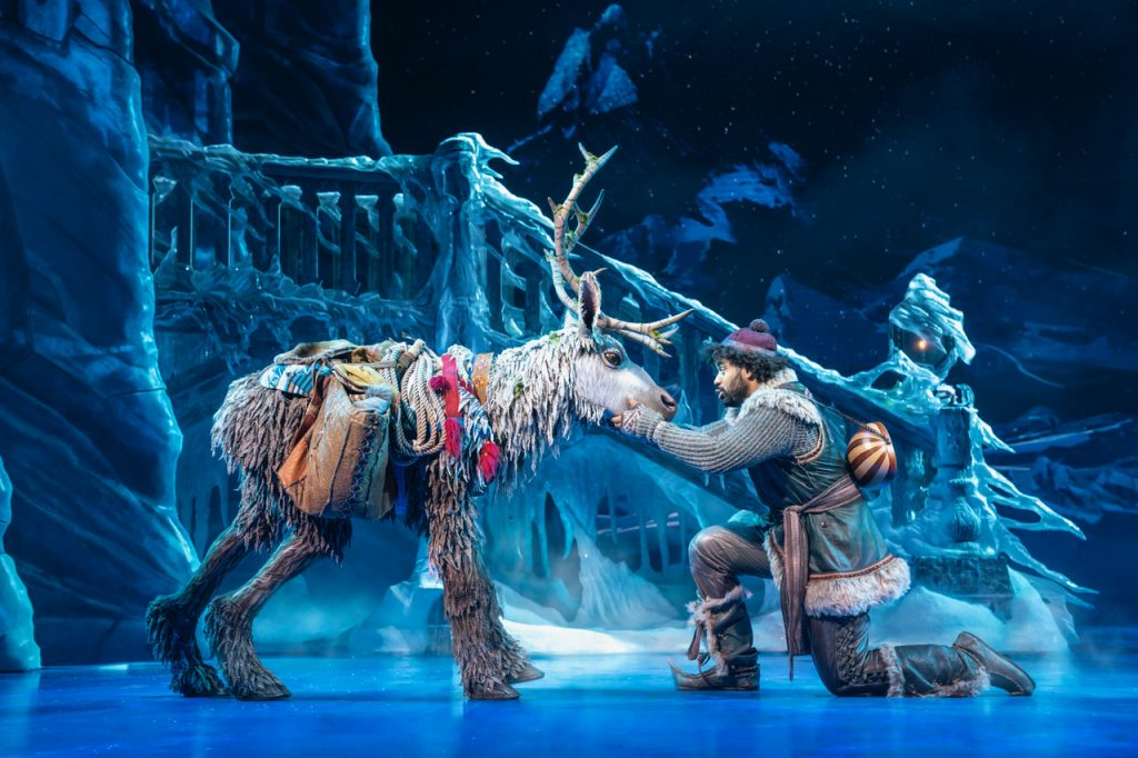 Disney's Frozen - Sven and Obioma Ugoala (Kristoff) Photo by Johan Persson © Disney