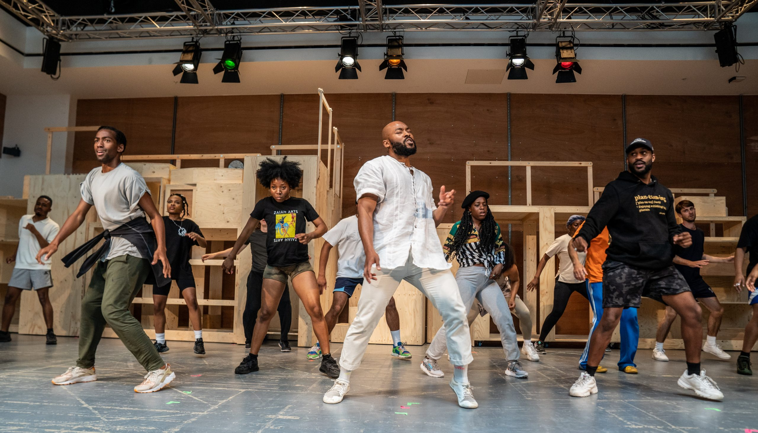 The cast of Get Up Stand Up! The Bob Marley Musical in rehearsal Credit Craig Sugden