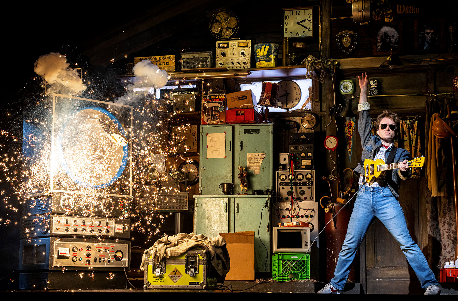 Olly Dobson as Marty McFly in Back to the Future the Musical © Sean Ebsworth Barnes